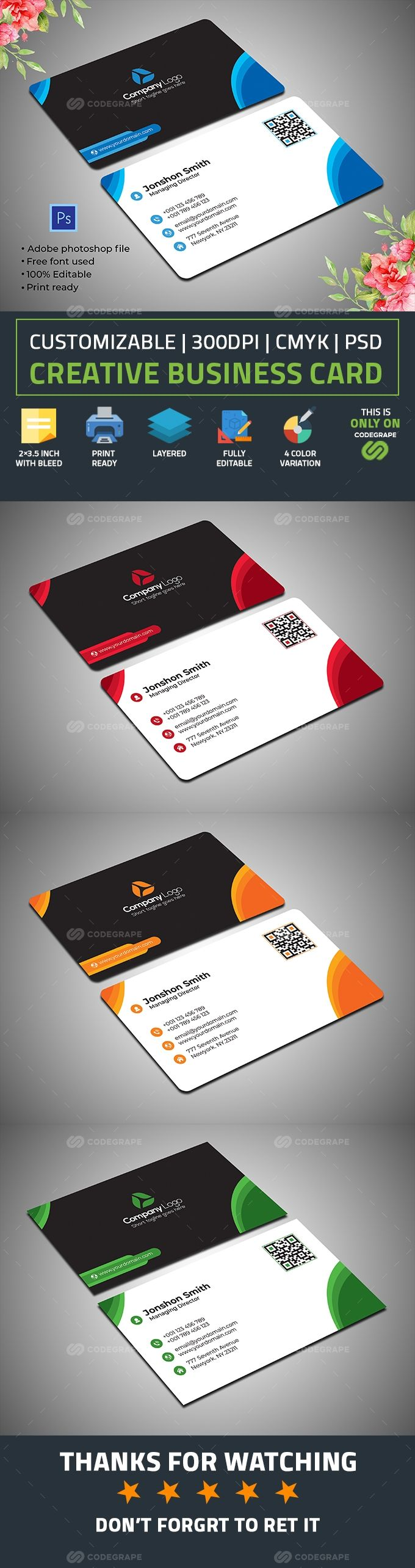 Simple Business Card In 2020 Simple Business Cards Corporate Business Card Business Card Psd