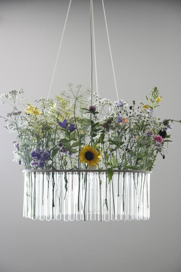 Cool test tube lamp by Pani Jurek also serves as a vase for flowers or plants