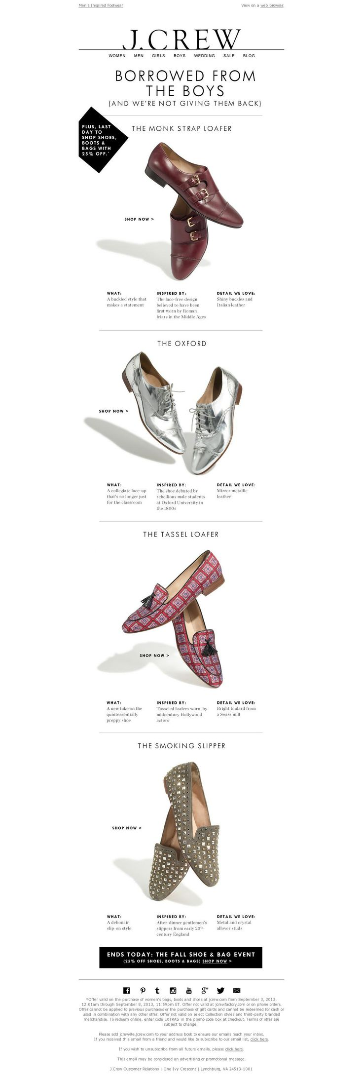 J.Crew Email Design shoes in detail