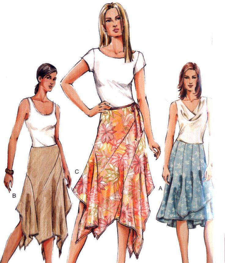 Pretty Handkerchief Hem Skirt Pattern Size 6-10 by WearingHistory
