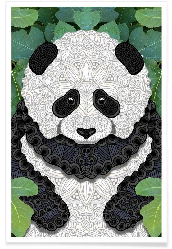 Panda Bear als Premium Poster von Angelika Parker   JUNIQE