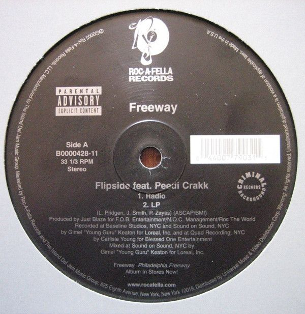 "Freeway - Flipside 12"" B0000428-11 Roc-A-Fella Records"