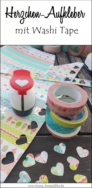 Süße Aufkleber ganz einfach mit Washi Tape selber machen