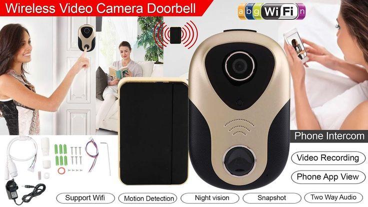 How to set up Wireless Video Camera Doorbell With Phone Intercom | doorb...