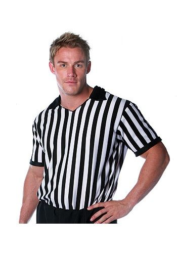 Is there never a ref at the party when you need one? Maybe it's time you stepped up with this men's referee shirt. You don't even need to be at a sports event to call fouls.