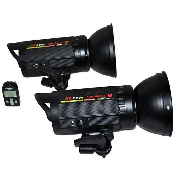 749.00$  Buy now - http://aliqav.worldwells.pw/go.php?t=32628585861 - CONONMARK Two Flashes AKE80 800W 3G 2.4GHZ HSS Wireless Strobe Flashlight,video light strob lamp for photography studio 749.00$