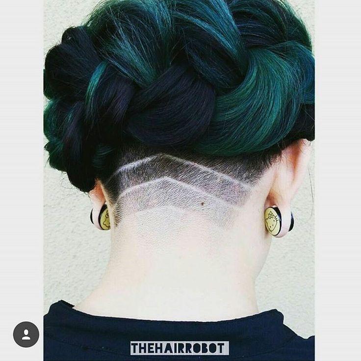 beautiful teal undercut pattern for women