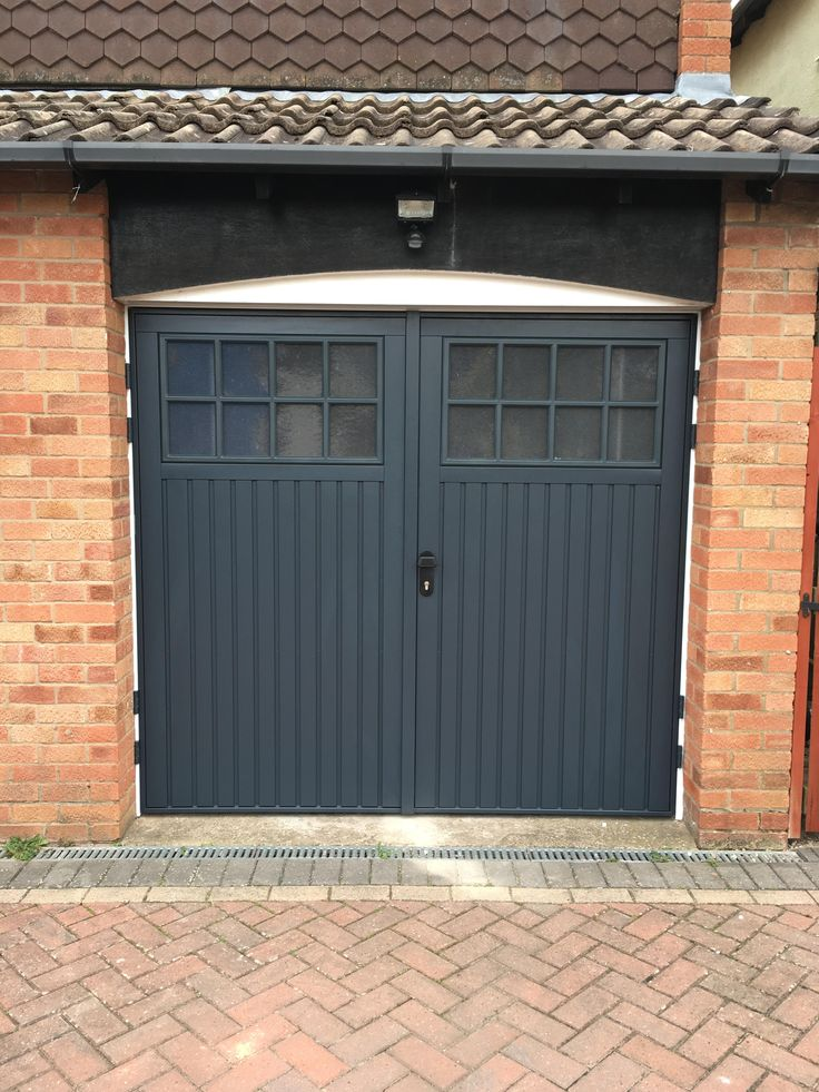 Cardale Bedford Side Hinged Garage Doors in Anthracite Grey