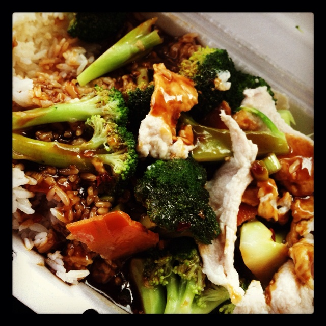Chinese Done Healthy Steamed Chicken  Broccoli, Garlic -5074