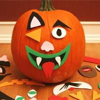 Pumpkin Faces , Halloween Craft: pumpkin faces