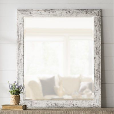 """Laurel Foundry Modern Farmhouse LaGrange Rustic Weathered Farmhouse Accent Wall Mirror Size: 35.5"""" H x 41.5"""" W"""
