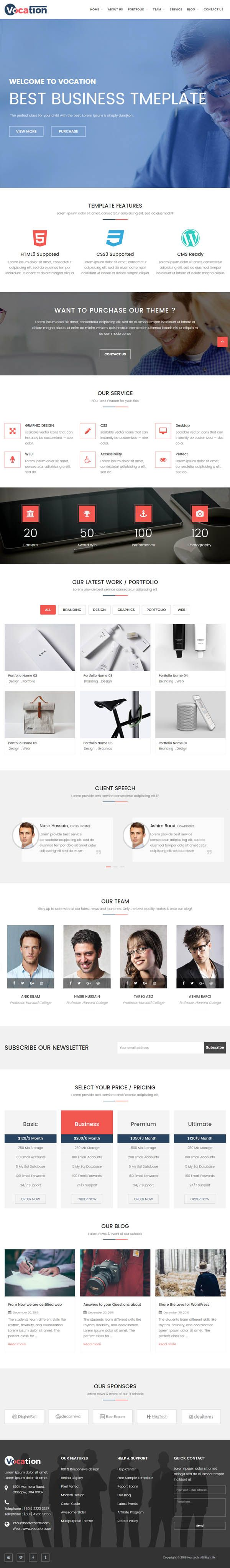 Vocation – Corporate WordPress Theme #blog #bootstrap #css3 #entrepreneurs #html5 #responsivedesign #seo #wordpressthemes