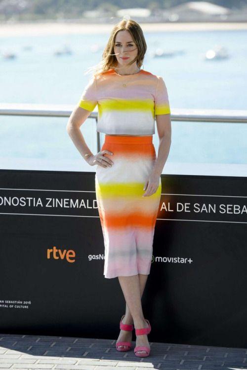 Emily Blunt – 'Sicario' Photocall during the 63rd San Sebastian...