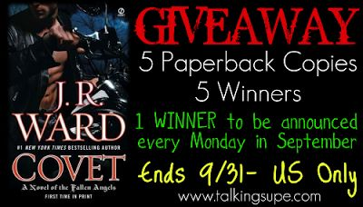 Talk Supe | A Pop Fiction Book Blog: J.R Ward's Fallen Angels Series + Giveaway (US Only)
