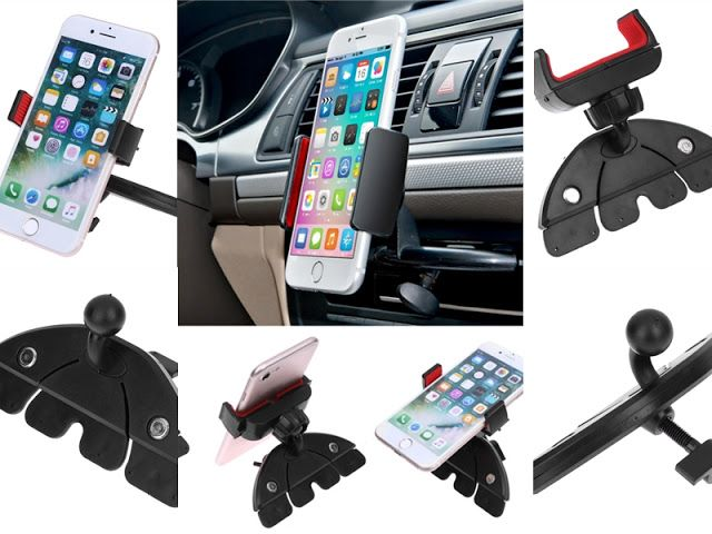 Review: Mobile Holder for Car using CD Player Slot from AliExpress in Riyadh Saudi Arabia