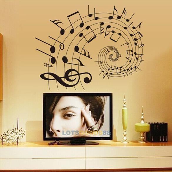 Ls4g новый дом украшения ноты пвх съемный номер искусства DIY стикер стены дома настенной росписи декора