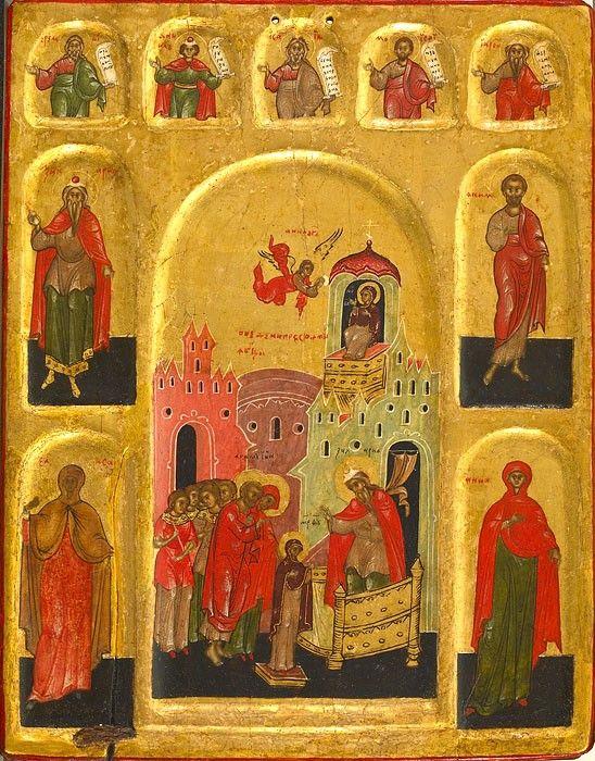 Введение во храм Пресвятой Богородицы. Walters art museum. Россия, XVI век