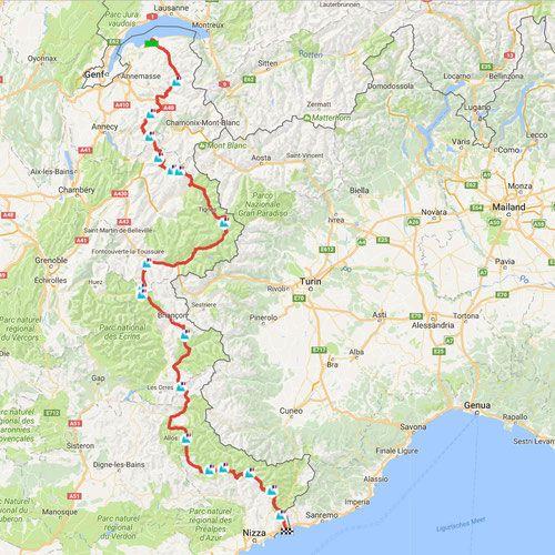 route des grandes alpes 685 km p sse info karte. Black Bedroom Furniture Sets. Home Design Ideas
