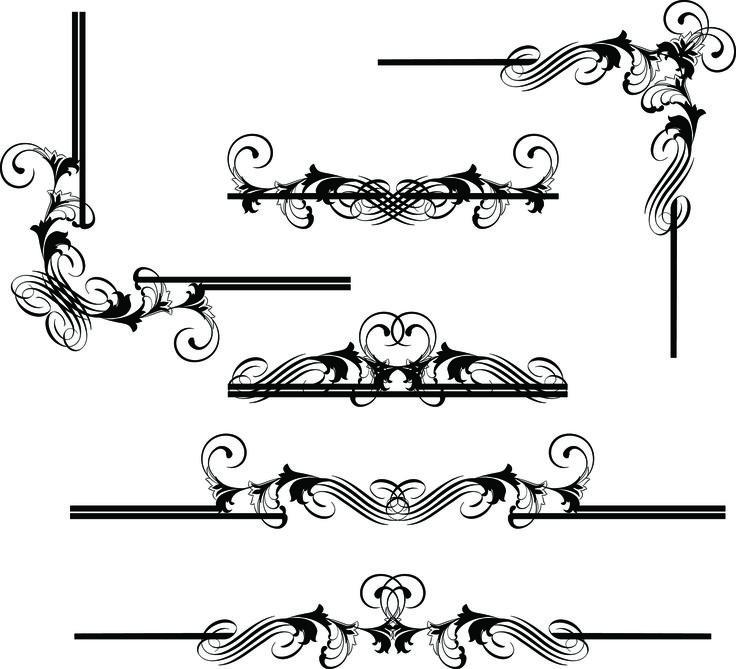 Vector european border pattern vector decorative design elements 2