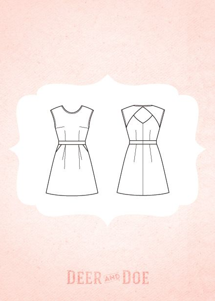 Everything about this Belladone dress pattern by Deer & Doe is amazing. So many possibilities and variations.
