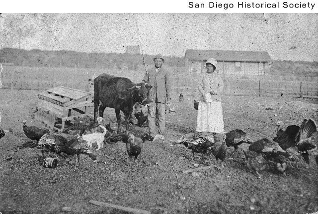 William and Alice Goodwin Osby at their home at El Cajon Boulevard and Arizona Street Date: [ca. 1918] 1913/1923