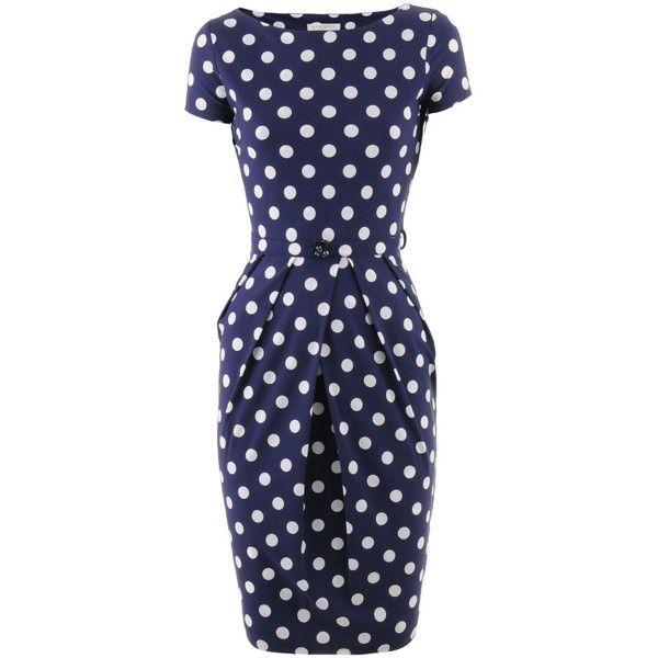 Kimmich Blue Polka Dots Dress Glamour
