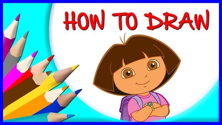 How to Draw Dora   Drawing Time Lapse   853672 HTD