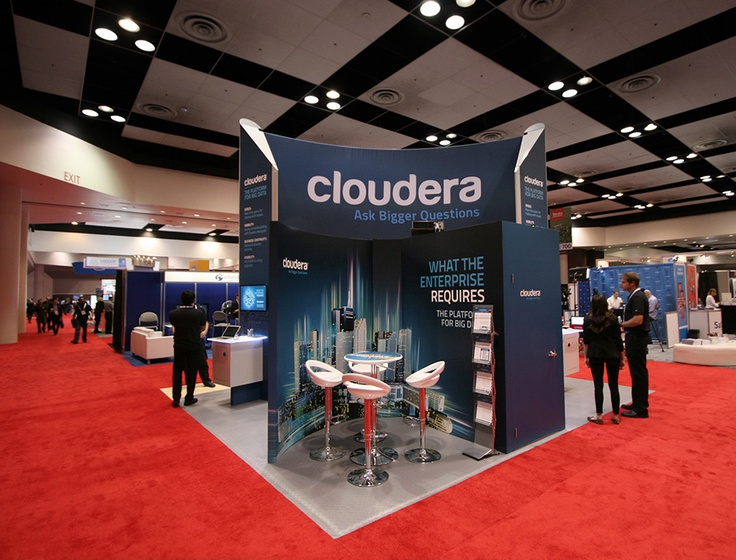 Cloudera custom trade show booth! All produced right here at Cylonix; build, graphics, happiness
