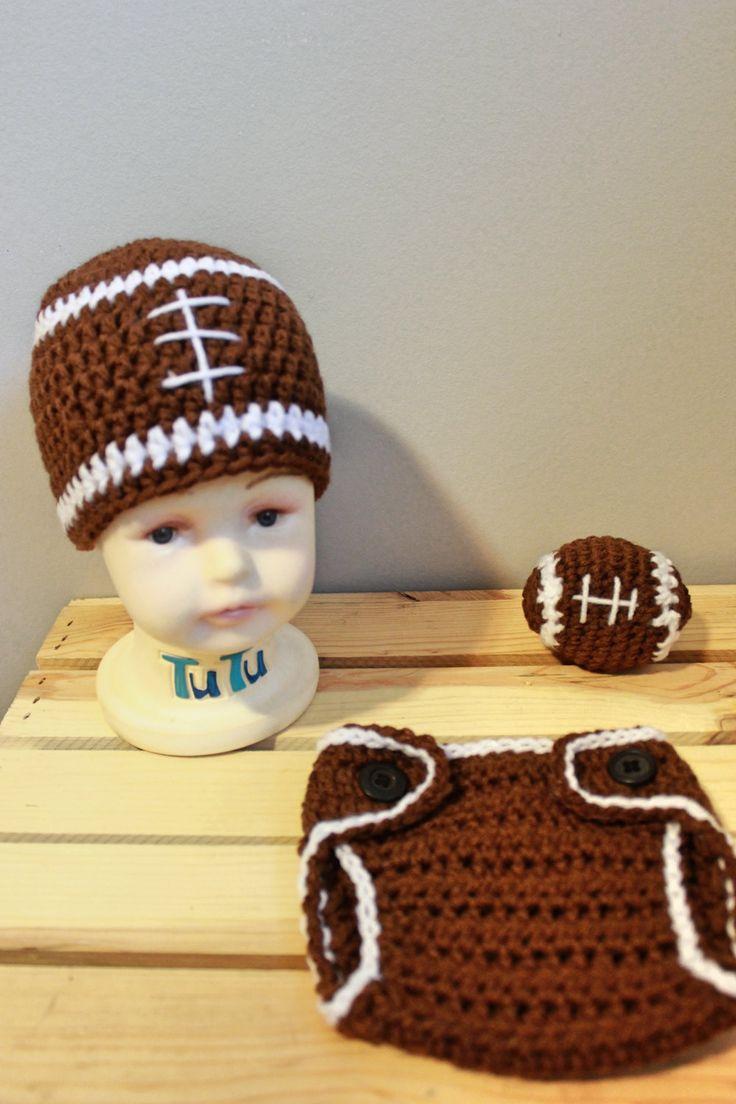 Crochet newborn baby football outfit  Sizes Newborn, 0-3 months, 3-6 months…