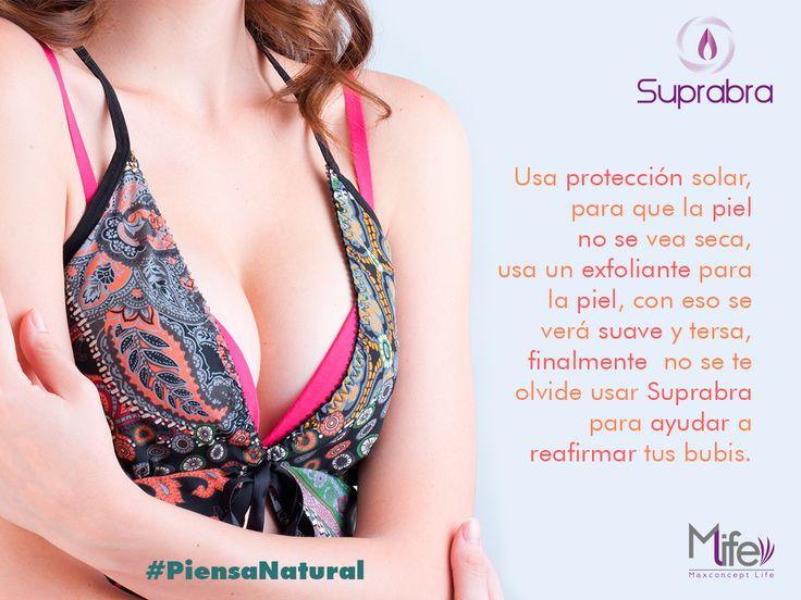 A veces no le ponemos cuidado, pero es necesario cuidar la piel del pecho. #Senos #Pechos #Bubis #Tips #PiensaNatural www.suprabra.com