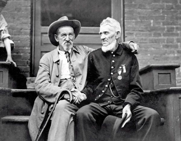 A special moment at the 50th anniversary of Gettysburg, 1913. Here is one of…