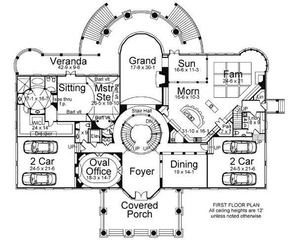Plan 12201jl Statement Circular Staircase In 2020