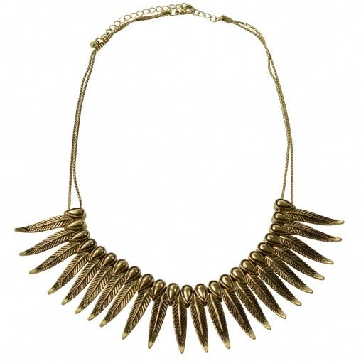 SACHA // Feather necklace gold €14,95