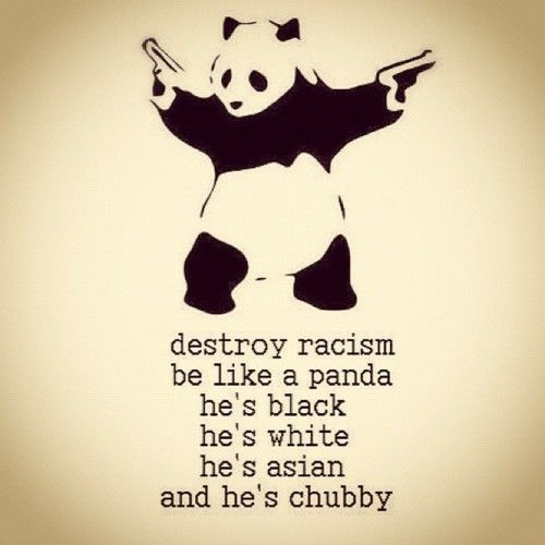 Stop Racism! Be like panda :): Random Funny, Stop Racism, Pandas Style, Fun Stuff, Wisdom Quotes, Funny Stuff, Racism Pandas, Random Stuff, Destroyer Racism