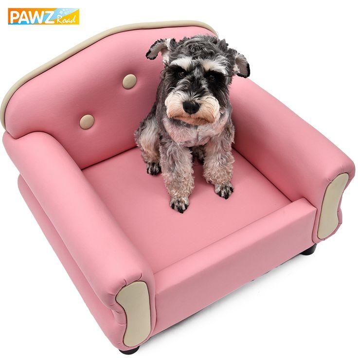 Luxury pet sofa pink medium puppy dog bed sleeping soft