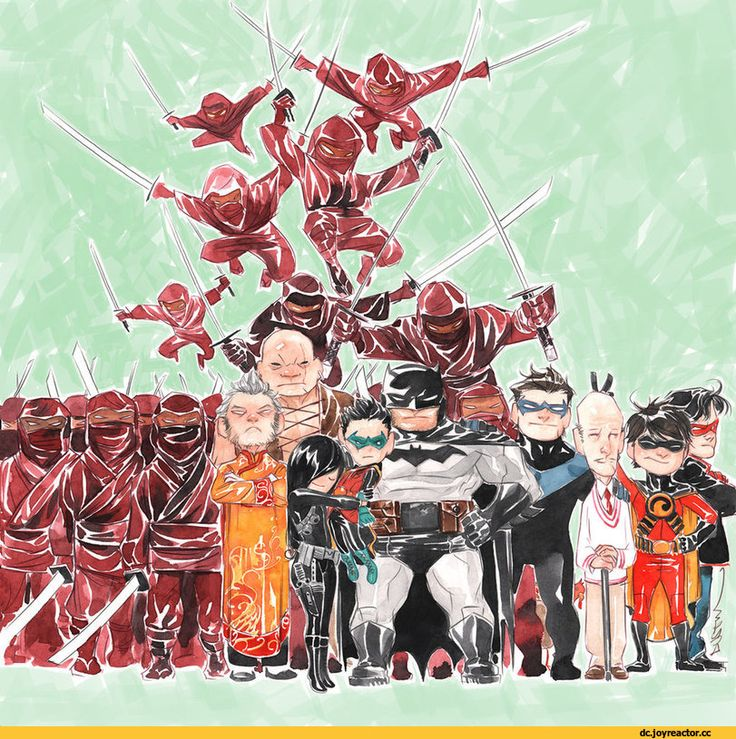 Bat Family,DC Comics,DC Universe,фэндомы,Batman,Бэтмен, Брюс Уэйн,Ra's al Ghul,Ра'с аль Гул,DC Evil,Злодеи,Robin,Робин,Nightwing,Найтвинг, Дик Грейсон,Red Robin,Красный Робин, Тим Дрейк,Red Hood,Красный Колпак, Джейсон Тодд