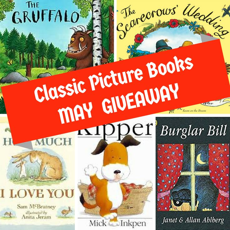 During the month of May, readers of my blog will be able to Win 5 Classic Picture Books by answering one simple question below.