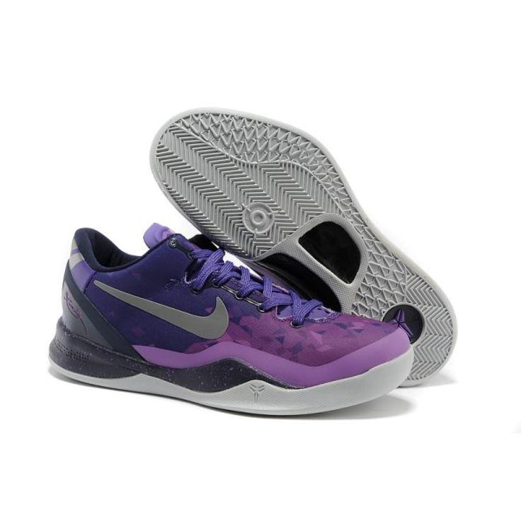 Buy Court Purple Pure Platinum-Blackened Blue-Laser Purple Nike Kobe 8  System Mens