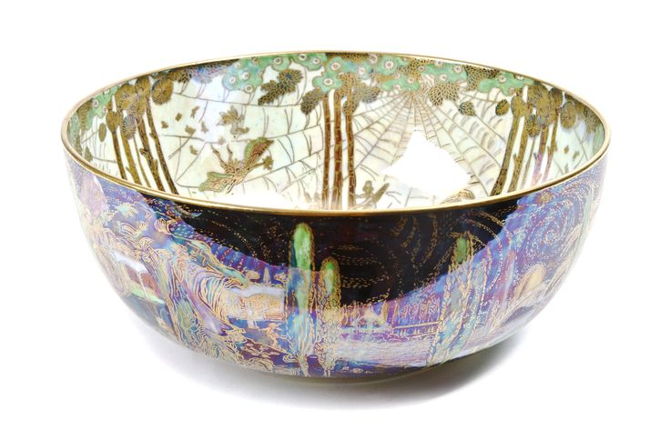 """A Wedgwood Fairyland Lustre Imperial """"Poplar Trees"""" Bowl 