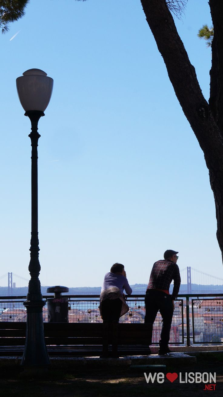 If we had to choose one viewpoint in Lisbon, we'd choose this - it's as simple as some benches, a fence and the most fabulous view of Lisbon.