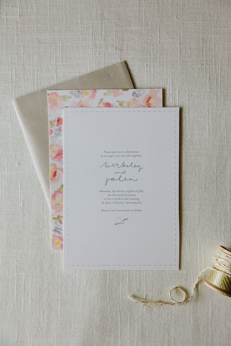 Berkeley Wedding Invitation Suite