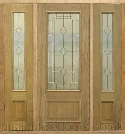The Chatsworth Entrance Oak Door Set Has Silver Zinc Detail In The Triple  Glazed Units.