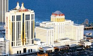 Groupon - Stay with Spa Access for Two and Nightly Dining Credit at Resorts Casino Hotel in Atlantic City, NJ; Dates into February in Atlantic City. Groupon deal price: $59