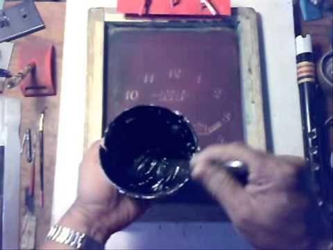 Serigrafia casera impresión sobre papel couche adhesivo
