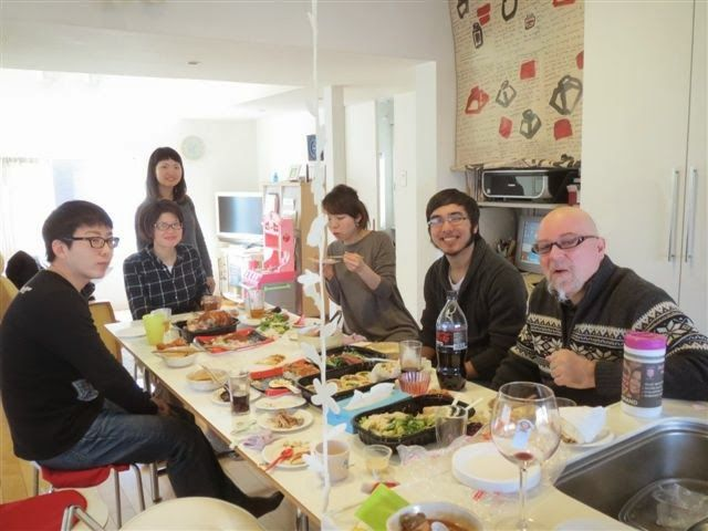 Dinner Retreat in Japan | Miles, his Auntie Taeko and Uncle Eddie (Just to be clear Taeko and ...