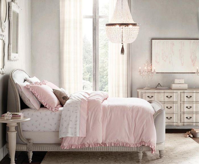 11 dormitorios rom nticos en tonos pastel para chicas - Habitaciones vintage juveniles ...
