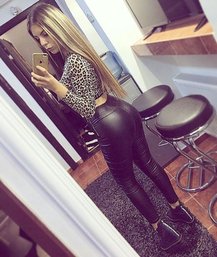 Motorcycle chick in black latex chaps is dped on apartment couch - 4 2