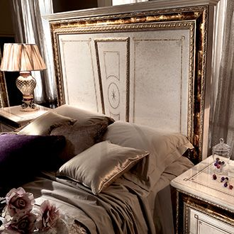 Raffaello Collection Bedroom, Bed Headboard Detail www.arredoclassic.com/bedroom/beds-raffaello