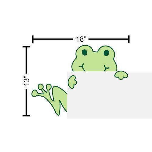 Children Wall Decal Frog Peeking Hugging Door Tree Frog