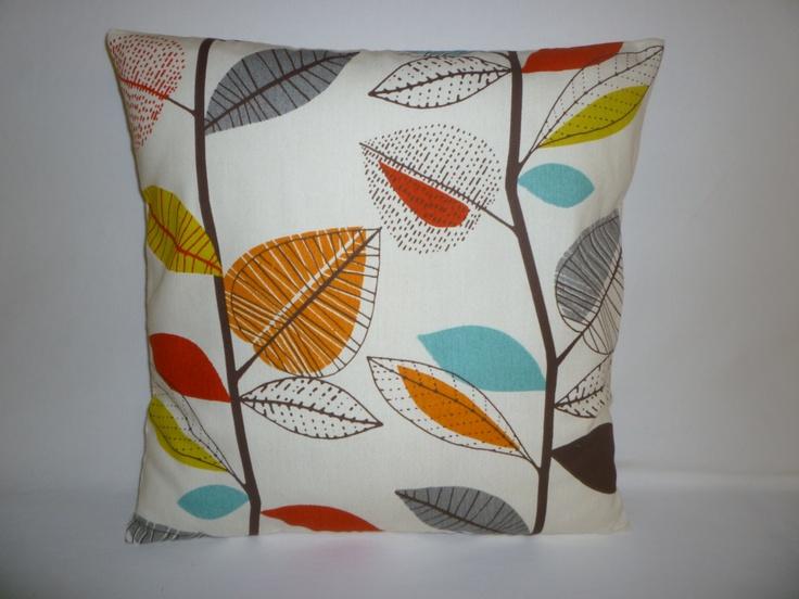"BIG 22"" Orange Blue Green Designer Cotton Cushion Cover's.Pillowcases Shams Slips. $19.50, via Etsy."